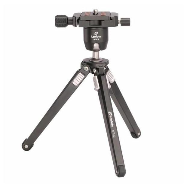 Leofoto MT-02 Mini statief + MTB-19 balhoofd