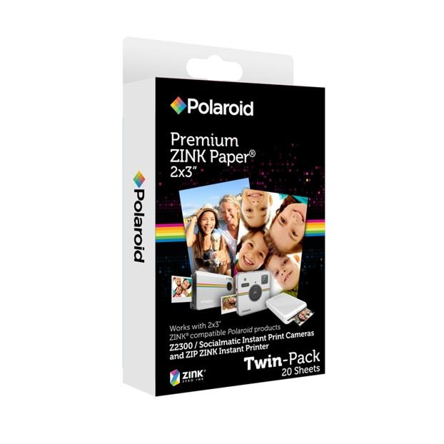 "Polaroid Zink papier 2x3"" 20 vel"