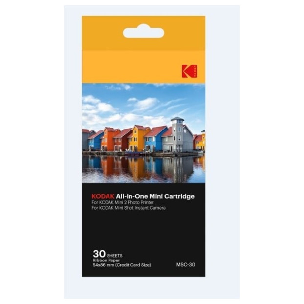 Kodak Printer mini 2 & minishot dyesub cartridge 30 pack