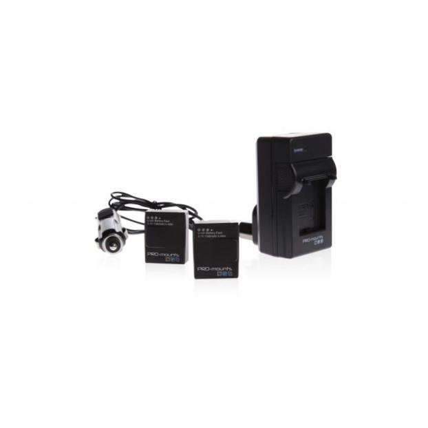 Pro-Mounts Battery Kit incl 2 accu's hero4