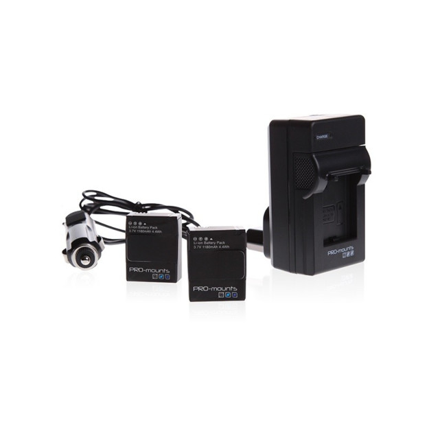 Pro-Mounts Battery Kit incl 2 accu's hero 3/3+