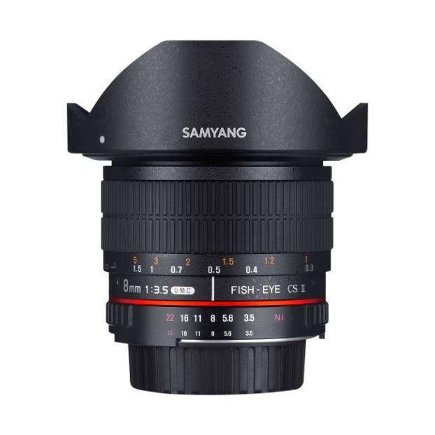 Samyang 8mm F3.5 Fisheye CSII Sony zwart