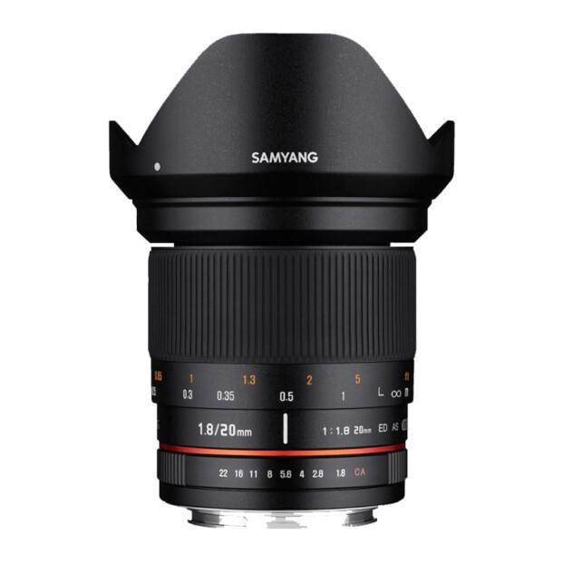 Samyang 20mm f/1.8 ED AS UMC | Canon EF-M