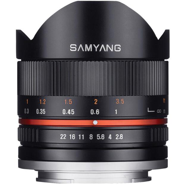 Samyang 8mm f/2.8 UMC II Fisheye zwart | Canon EF-M
