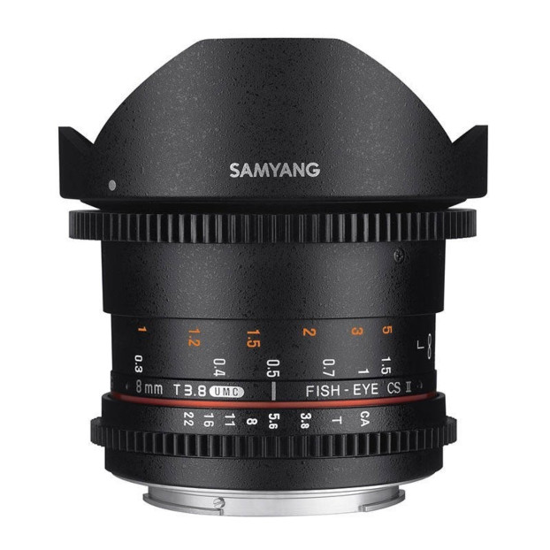Samyang 8mm T3.8 UMC CS II Fisheye VDSLR Sony A-mount