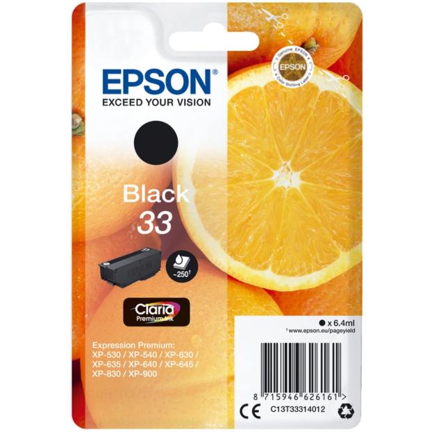 Epson 33 Claria Premium inktpatroon | Zwart