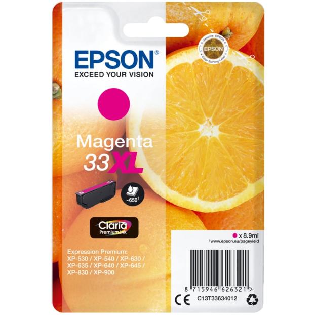 Epson 33 Claria Premium inktpatroon XL | Magenta