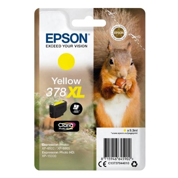 Epson 378 Claria Photo HD inktpatroon XL | Geel