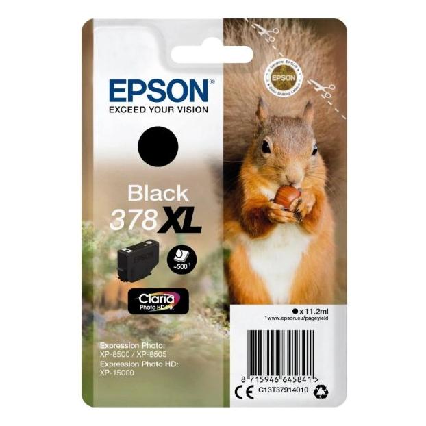 Epson 378 Claria Photo HD inktpatroon XL | Zwart