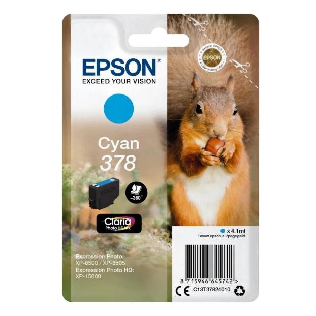 Epson 378 Claria Photo HD inktpatroon | Cyaan