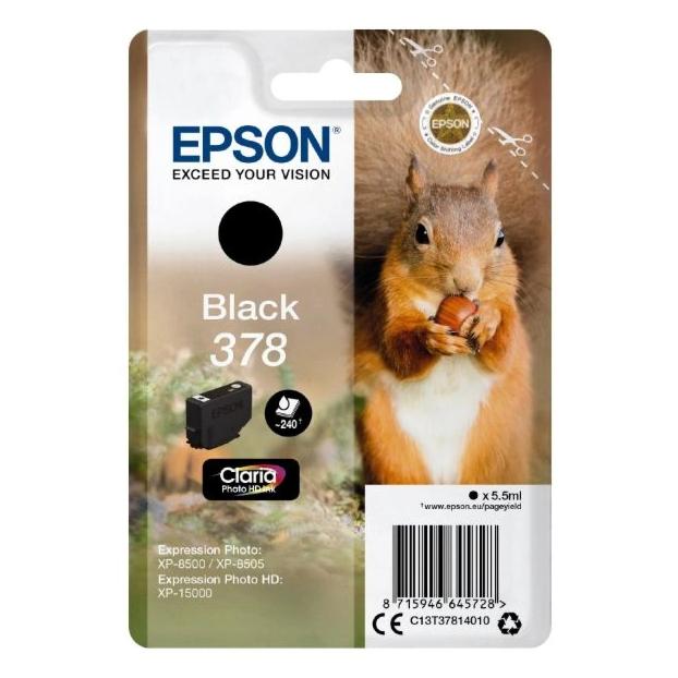 Epson 378 Claria Photo HD inktpatroon | Zwart