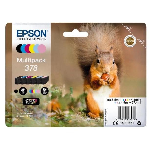 Epson 378 Claria Photo HD inktpatroon | Multipack 6 kleuren