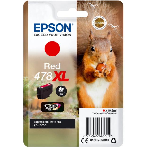 Epson 478 Claria Photo HD inktpatroon XL | Rood