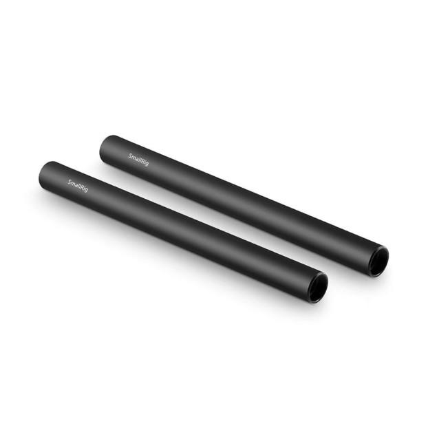 SmallRig 1051 2pcs 15mm Black Aluminum Alloy Rod(M12 20cm) 8inch