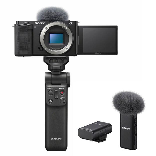Sony DSC ZV-E10 Vlogcamera + ECM-W2BT + GP-VPT2BT