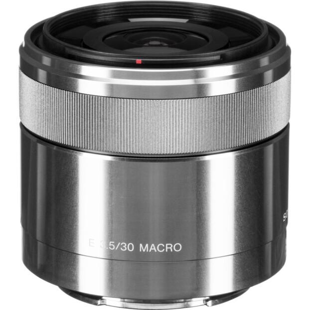 Sony E 30mm f/3.5 Macro zilver