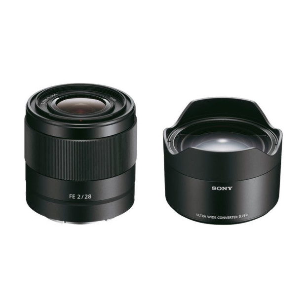 Sony FE 28mm F2.0 + Converter