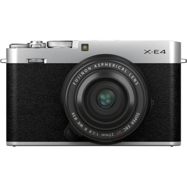 Fujifilm X-E4 zilver + XF 27mm f/2.8 R WR