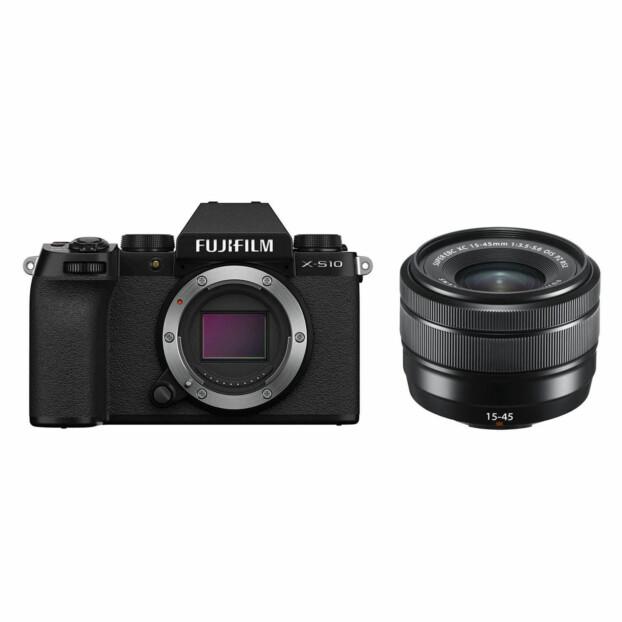 Fujifilm X-S10 zwart + 15-45mm f/3.5-5.6 OIS PZ