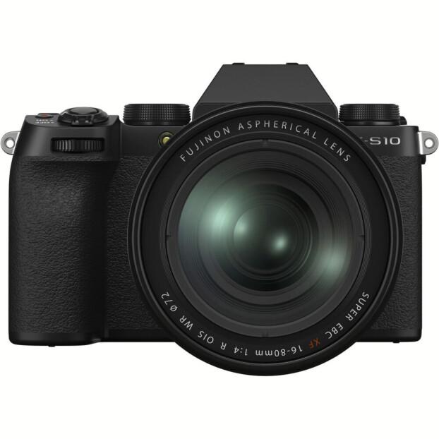 Fujifilm X-S10 zwart + 16-80mm f/4.0 R OIS WR