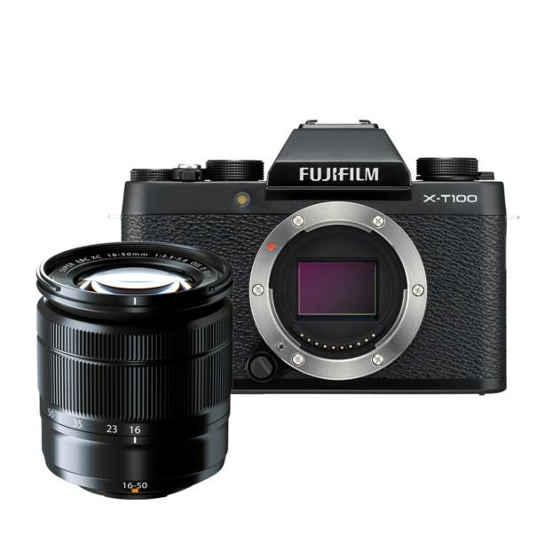Fujifilm X-T100 zwart + XC 16-50mm F3.5-5.6 OIS II