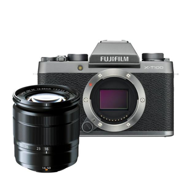 Fujifilm X-T100 zilver + XC 16-50mm F3.5-5.6 OIS II