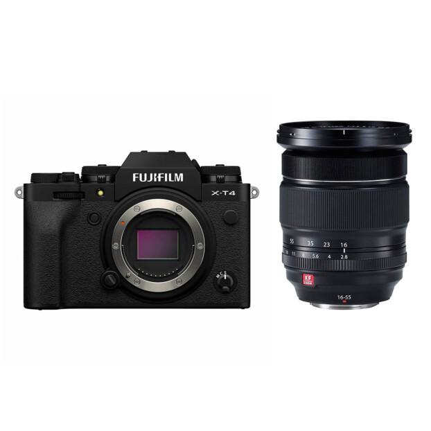 Fujifilm X-T4 zwart + 16-55mm f/2.8 R LM WR