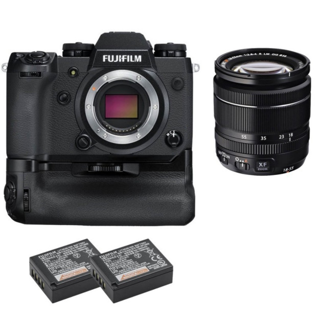 Fujifilm X-H1 Body + 18-55mm f/2.8-4.0 + VPB-XH1 + 2x NP-W126S