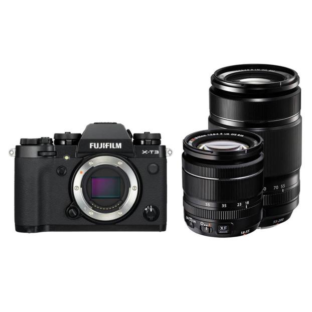 Fujifilm X-T3 zwart + XF 18-55mm + XF 55-200mm