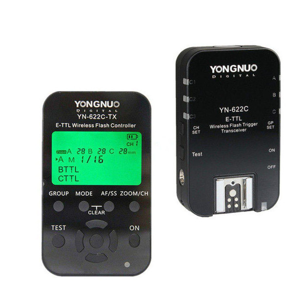 Yongnuo YN622C Kit (Wireless TTL Flash Triggerset) voor Canon
