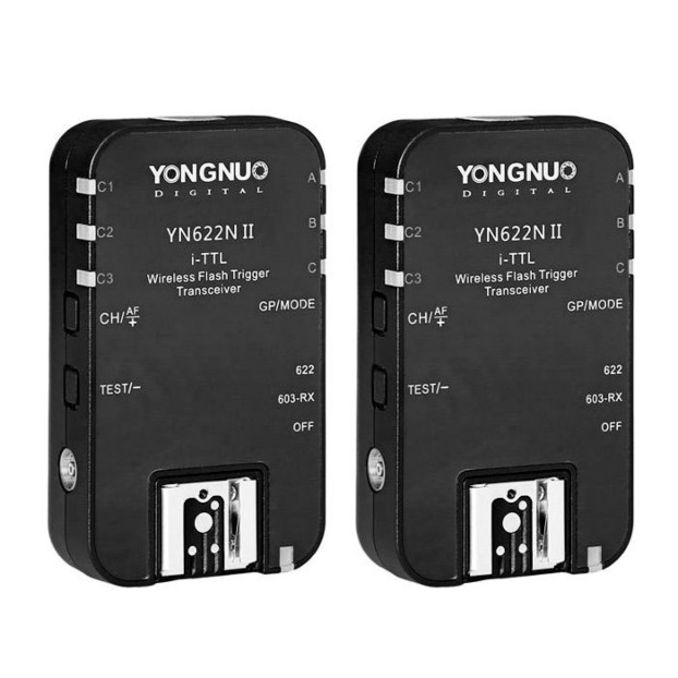 Yongnuo YN622N II Wireless TTL Flash Transceiver (2 stuks) voor Nikon